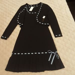 Black/Blue 2 piece dress Size M